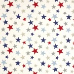 BLUE AND RED STAR COTTON
