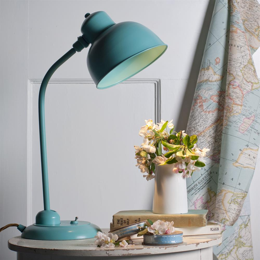 table lamp reading duck egg blue