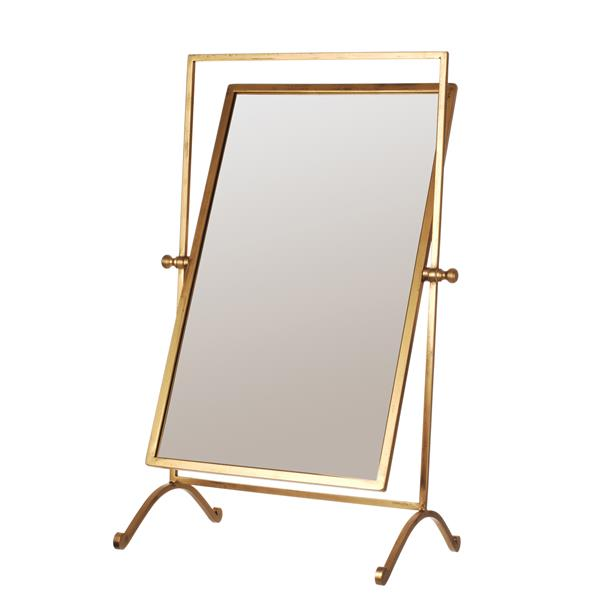 gold swing mirror