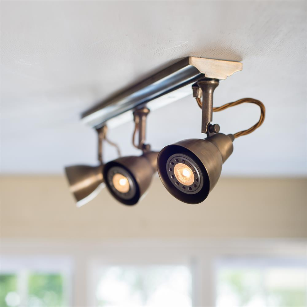 track spotlight brass kitchen lighting - Kitchen Lights Uk