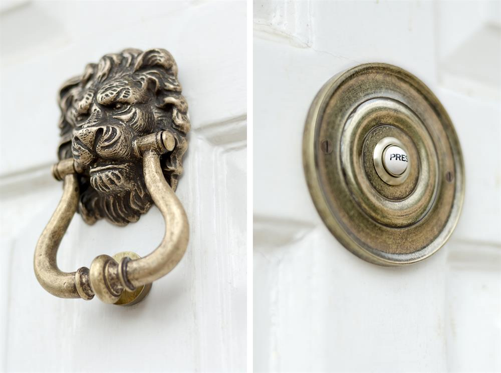 door knocker and bell